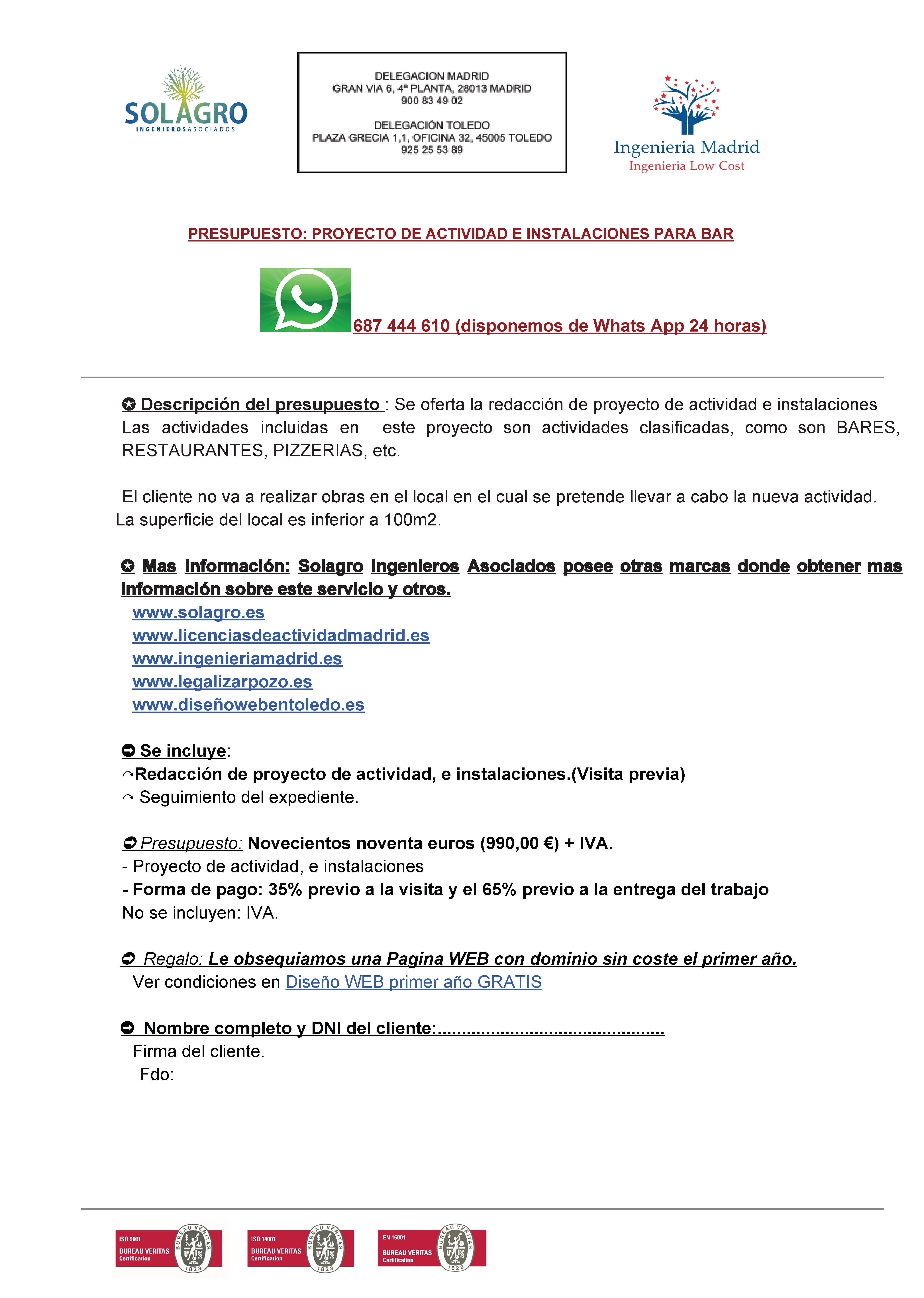 Presupuesto bar for Cuanto vale remodelar un bano